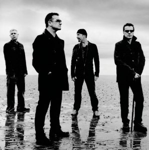 photograph of the band U2