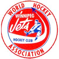 The original logo for the WHA Jets