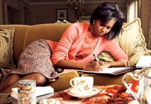 Michelle Obama in J. Crew