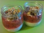 Stewed Rhubarb Breakfast Jars