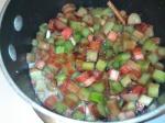 Stewed Rhubarb prep