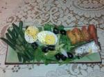 Audrey: Tomato, Anchovy and Arugula salad