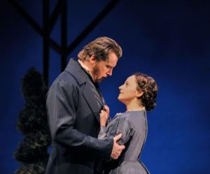 Tim Campbell and Jennifer Dzialoszynski in MTC's Jane Eyre. Photo by Bruce Monk