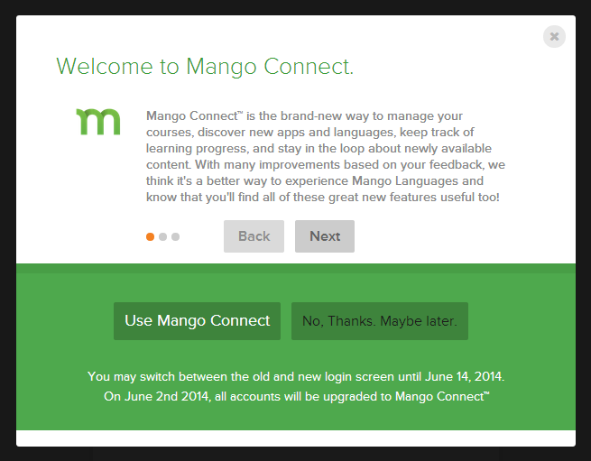 New language-learning features from Mango! | Readers' Salon
