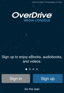 OverDrive Account Screenshot