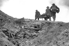 Stretcher bearers Battle of Thiepval Ridge September 1916