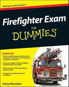 "Cover of ""Firefighter Exam for Dummies""."