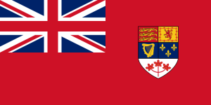 The most recent version of the Red Ensign, used from 1957 to 1965.