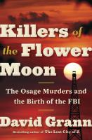 Book cover of Killers of Flower Moon.